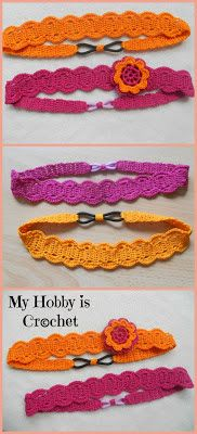 Thread Headband with elastic | Free Crochet Pattern with Tutorial | My Hobby is Crochet