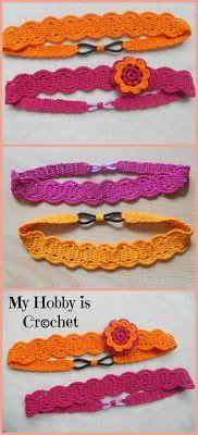 Thread Headband with elastic | Free Crochet Pattern with Tutorial | My Hobby is Crochet