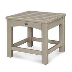 Trex Outdoor Furniture - Rockport Square Outdoor End Table W x L at Lowe's. Complete the look of your outdoor sitting area with the Trex® outdoor furniture™ Rockport club 18 In. It's the perfect accent Outdoor End Tables, Outdoor Side Table, Patio Table, Club Furniture, Deck Furniture, Modern Furniture, Plastic Tables, Colorful Furniture, Club Chairs