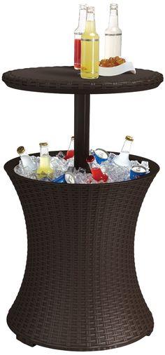 Amazon.com : Keter Rattan Cool Bar : Wicker Cooler : Patio, Lawn & Garden