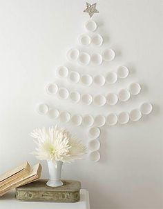 DIY Cupcake Liner Christmas Tree