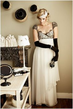 Art Deco Wedding Dress Inspired Bridal Gown Very Tres Chic Ideas Pinterest Desses And
