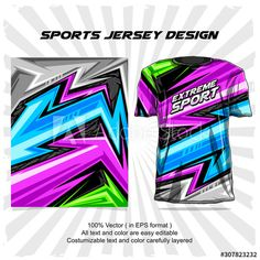sports jersey design - Buy this stock vector and explore similar vectors at Adobe Stock Sports Jersey Design, Adobe, Graphic Patterns, Royalty Free Images, Graffiti, Stock Photos, Car Wrap, Krishna, Minecraft