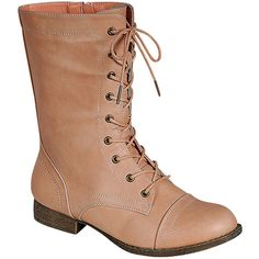 Westwood Libby-01 Basic Combat Boot (30 CAD) ❤ liked on Polyvore featuring shoes, boots, blush, combat booties, military boots, army boots and combat boots