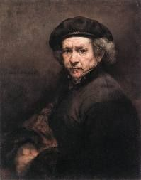 Rembrandt's self portrait as an old man.