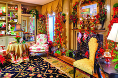 Color It Christmas - Augusta Magazine,  Meybohms' Famous Stucco House on Meigs in Augusta, Georgia - Bright, Colorful, French-Inspired Interior