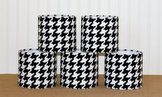 Houndstooth Chandelier Drum Shades by Sassyshades on Etsy, $120.00