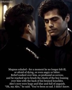 @thatsmalec en Instagram: #Malec in Edom. Quote from City of Heavenly Fire.