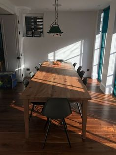 Our Weaveley dining table pictured here handmade in British Elm with a Clear matt oil. We were commissioned to make this to bespoke dimensions. The overall size was so a comfortable 12 seater. Handmade Table, Dining Tables, Bespoke, British, Interiors, Oil, Interior Design, Furniture, Collection
