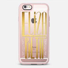 Elizabeth (Gold Lettering Art Deco) transparent - New  Standard Case  #Elizabeth #betty #beth #betsy #lettering #typography #name #gold #golden #artdeco #artnoveau #deco #noveau #steampunk #ornate #letter #case #iphone #cover #iphones6 #phone #casetify #transparent