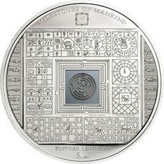 10 Dollar Silber Ägyptisches Labyrinth PP