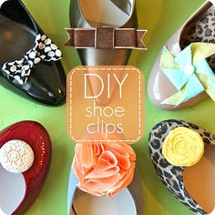 These would totally work on my little girl's shoes too... DIY shoe clips!