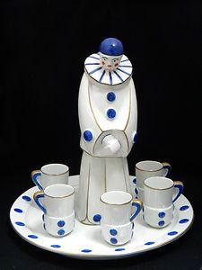Art Deco Robj Porcelain Liquer Service