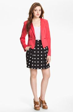 Halogen® Three Quarter Roll Sleeve Blazer (Petite) available at #Nordstrom