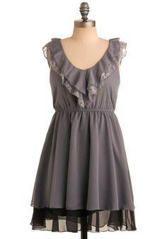 chiffon and lace babydoll dress from: modcloth