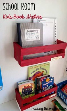 School Room Bookshelves by @Tiffany Hewlett {Making The World Cuter} #Michaelsbts