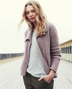 Boucle Jacket by Poetry  Style by  Adolfo Vásquez Rocca  D.Phil y Arte