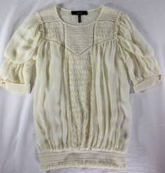 "~~~ GORGEOUSLY-FEMME ~~~ ISABEL MARANT ""PINTUCKED"" SILK PEASANT TOP ~ 38 #IsabelMarant #Blouse #Anything"