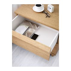OPPLAND Lemari 2 laci - veneer kayu oak - IKEA