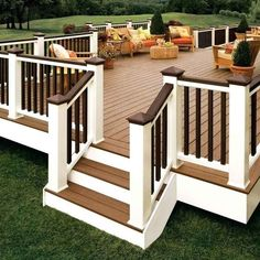 Deck railing isn't simply a security attribute. It can include a spectacular aesthetic to mount a decked area or deck. These 36 deck railing ideas reveal you just how it's done! Pergola Diy, Diy Deck, Pergola Ideas, Decking Ideas, Cheap Pergola, Outdoor Decking, Modern Pergola, Pergola Roof, Backyard Patio Designs