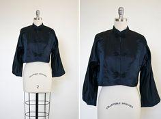 Jinan Jacke Jahrgang 1950 s Mandarin Jacke von GardenStudy