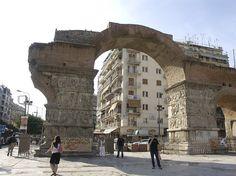 Arch of Galerius, Thessaloniki, Greece Places Around The World, Around The Worlds, Greece Islands, Great Hotel, Acropolis, Thessaloniki, Island Beach, Macedonia, Ancient Greece