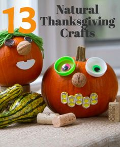 This list of beautiful Thanksgiving crafts all include natural materials!