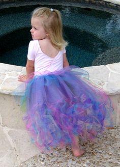 Rainbow Mermaid Tail Tutu