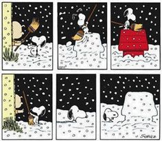 .Snoopy snow day
