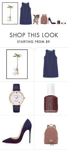 """27'3'17"" by yoyoyoyogangsterbobcat on Polyvore featuring MANGO, Kate Spade, Essie, Christian Louboutin and MICHAEL Michael Kors"