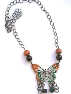 I want this! Starbucks Upcycled Can Butterfly Necklace