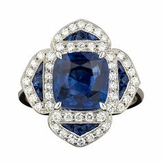 Sapphire and Diamond Engagement Ring featured on Everybody Loves Estate-XX: Engagement Ring Special on Julers' Row!
