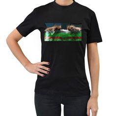 Australian+Shepherd+Red+Tri+Women's+T-Shirt+(Black) High Quality T Shirts, Australian Shepherd, Creatures, T Shirts For Women, Red, Cotton, Mens Tops, Black, Style