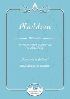 Pladdern #Magdeburg