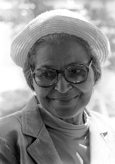 Rosa Parks, 1980 (photography by Kathy Sloane)
