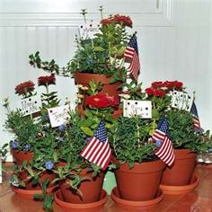 Patriotic Pots!! Definitely doing this project this summer if our new porch is finished