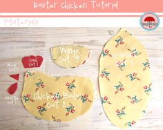 Free Stuffed Chicken Patterns | ... , Another Easter Chicken- Free pattern & instructions - Red Brolly