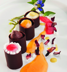 Veuve Clicquot World's Best Female chef 2013, Nadia Santini gives you a beautiful chocolate bonbons with apricot jam recipe...