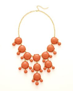 Coral Chunky Necklace #MadAboutSpring