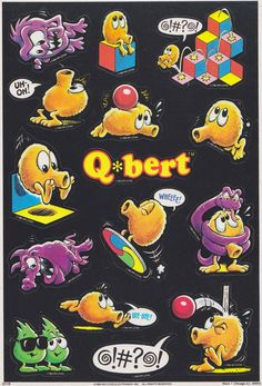 Dan Alexander Dizmentia: Q*bert and Saturday Supercade Vintage Video Games, Classic Video Games, Vintage Games, Star Citizen, Retro Arcade Games, Game Themes, Retro Videos, Anime Fnaf, Video Game Characters