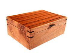 Hand Carved Sassafras and Red Gum Box