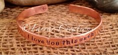 Personalized Hand Stamped Copper Cuff Bracelet by FarrarCreations, $26.00