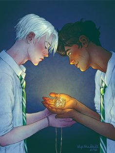 Scorpius and Albus Poor Scorpius afraid and uncertain. Because he will be the one to witness the world at its worst.