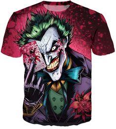 Hip Hop The Joker T Shirt Funny Comics Character Joker With Poker T-shirt Summer Style Outfit Tees Top Full Print Clothes 3d T Shirts, Cheap T Shirts, Casual T Shirts, Branded T Shirts, Casual Wear, Joker Dc Comics, Funny Comics, Joker T Shirt, Shirt Men