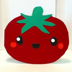 Handmade Tomato Card Cardstock by justcreativecards on Etsy, $3.50