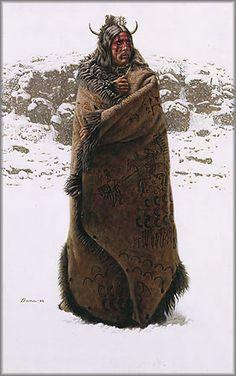 James Bama - Blackfeet War Robe