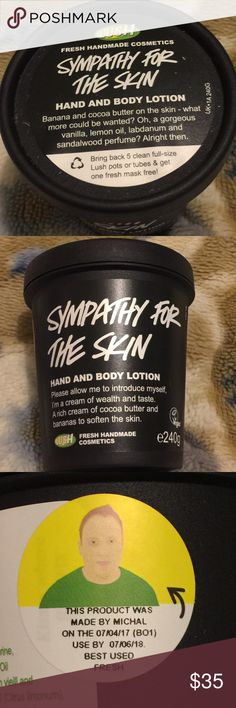 Lush UK Sympathy for the Skin New lush uk sympathy for the skin hand and body lotion of e240g. Lush Other
