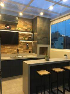 Ideas indoor patio bar ideas for 2019 Patio Bar, Terrace Grill, Parrilla Interior, Barbecue Garden, House Front Design, Grill Design, Grill Area, Bbq Grill, Kitchen Design