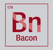 """Bacon - an essential element.... Tangie, this one's for you!"" KENDRA I LOVE YOU!!!!!!!!!!!! The next strip of bacon I eat is in YOUR HONOR!!!"