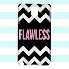 Flawless Beyonce on Chevron White Samsung Galaxy Note 3 Case Cover